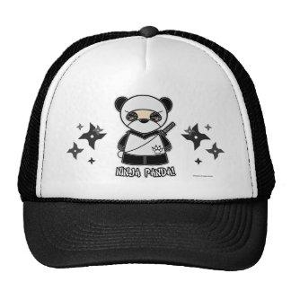 Ninja Panda! Mit Shurikens Hut Truckermütze