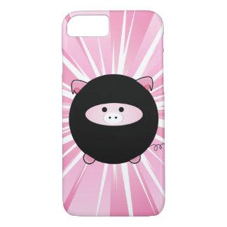 Ninja Schwein auf Rosa iPhone 8/7 Hülle