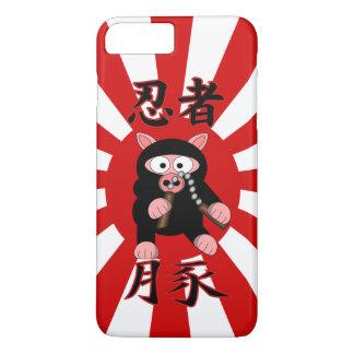 Ninja Schwein-Rot-Sternexplosion iPhone 8 Plus/7 Plus Hülle