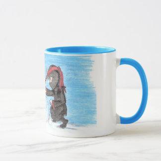 Ninja Snowman-Wecker Tasse