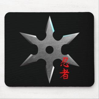 Ninja werfender Stern Mousepads