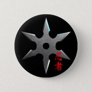 Ninja werfender Stern Runder Button 5,1 Cm