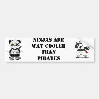 NinjaPandaPrint, ninjapanda, Ninjas sind WEISEN-Gu Autoaufkleber