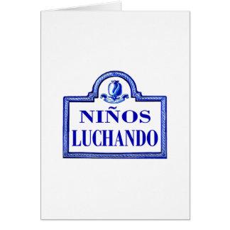 Niños Luchando, Granada-Straßenschild Grußkarte