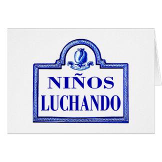 Niños Luchando Granada-Straßenschild