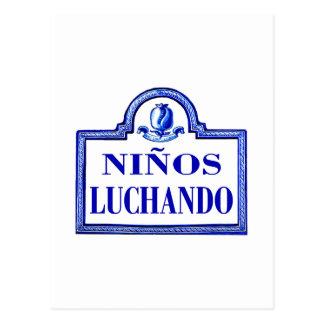 Niños Luchando, Granada-Straßenschild Postkarten