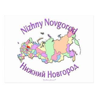 Nischni Nowgorod Russland Karte Postkarte