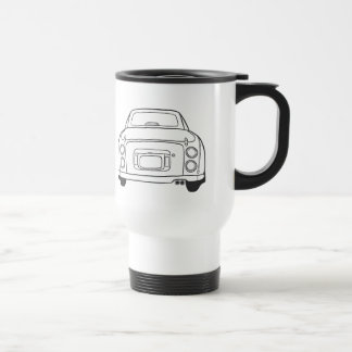 Nissan Figaro Auto-Linie Kunst-Auto-Reise-Tasse Reisebecher