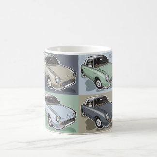 Nissan Figaro in vier Farben Kaffeetasse