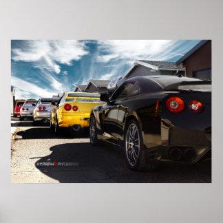 Nissan GT-R R35, R34, R33, R32, Hakosuka Skyline Posterdruck