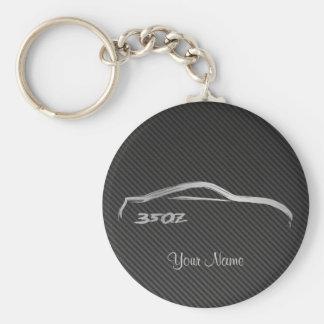 Nissans 350Z Brushstroke-Logo mit Imitat-Kohlensto Schlüsselband