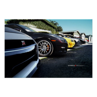 Nissans GT-r Skyline-Foto-Trieb R35, R34, R33, R32 Plakate