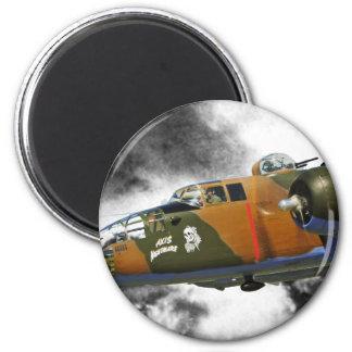 Nitemare Achse des Bombers B-25 ' Runder Magnet 5,1 Cm