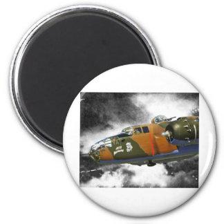 Nitemare Achse des Bombers B-25 ' Runder Magnet 5,7 Cm