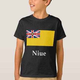 Niue Flagge und Name T-Shirt
