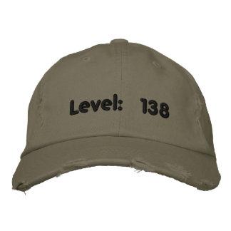 Niveau: 138 bestickte baseballkappe
