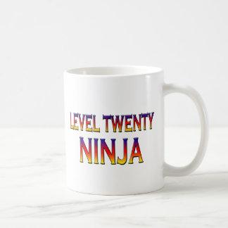 Niveau zwanzig ninja tasse