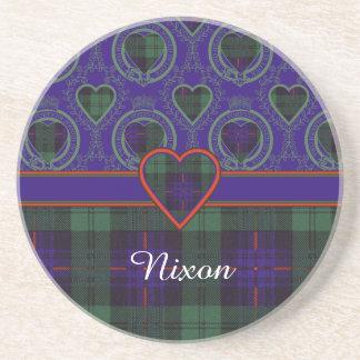 Nixon-Clan karierter schottischer Kilt Tartan Sandstein Untersetzer