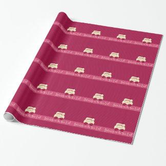 Nizza Liste weibliches rosa Weihnachtssankt Geschenkpapier