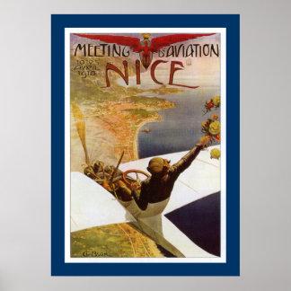 Nizza Sitzung d Aviation Plakate