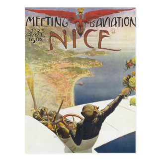 Nizza Sitzung d'Aviation Postkarte