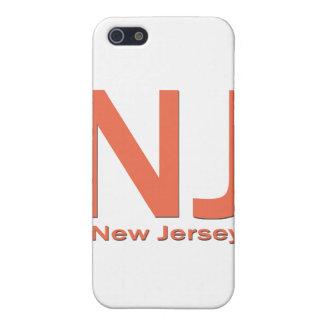 NJ New-Jersey einfache Orange iPhone 5 Schutzhülle