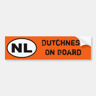 NL-Aufkleber - Dutchness an Bord Autoaufkleber