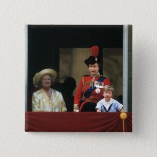 No.19 Buckingham Palace 1985 Prinz-William Quadratischer Button 5,1 Cm