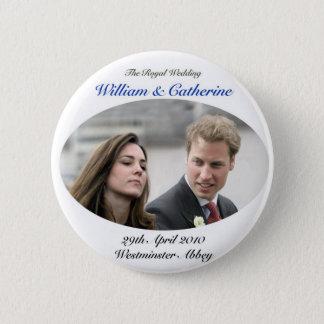 No.1 der königliche Wedding William u. die Runder Button 5,7 Cm