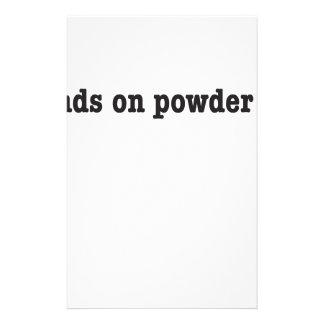 no friends on powder days individuelles druckpapier