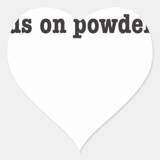 no friends on powder days herzaufkleber