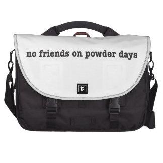 No friends on powder days notebook tasche