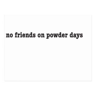 no friends on powder days postkarten