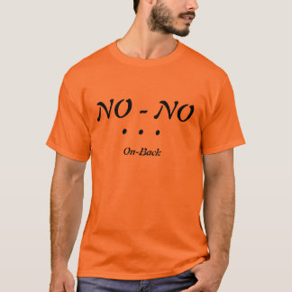 NO-Kein T-Shirt