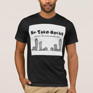 NO--Nehmen-Rückseiten amerikanisches T-Shirt