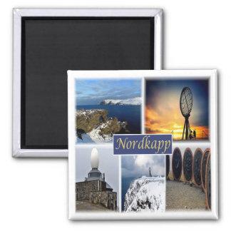 NO * Norwegen - Nordkapp Nordkap Quadratischer Magnet