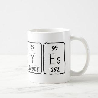 No/Yes Wort-Tasse periodischer Tabelle Kaffeetasse