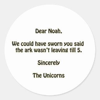 Noah Runde Aufkleber