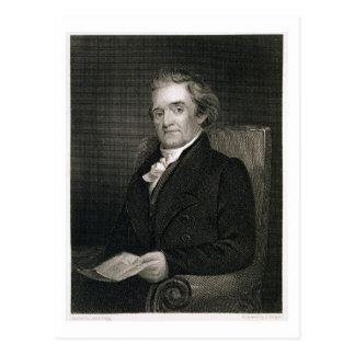 Noah Webster (1758-1843) graviert von Frederick W. Postkarte