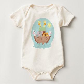 Noahs Arche-Baby-amerikanisches KleiderBio Baby Strampler