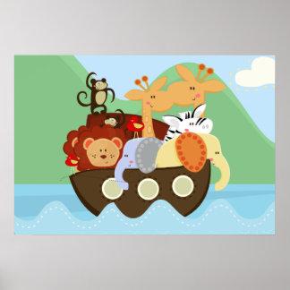Noahs Arche-Baby-Kinderzimmer-Plakat Poster