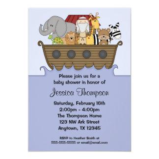 Noahs Arche-Babyparty-Einladungen 12,7 X 17,8 Cm Einladungskarte