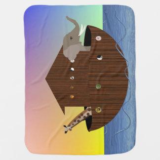 Noahs Arche-doppelseitige Decke