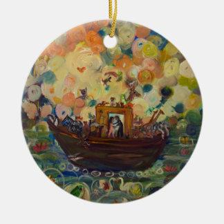 Noahs Arche durch Avonelle Kelsey Keramik Ornament