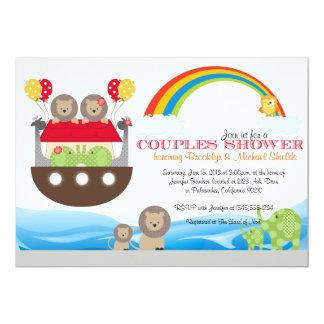 Noahs Arche-Einladung - Paar-Babyparty 12,7 X 17,8 Cm Einladungskarte