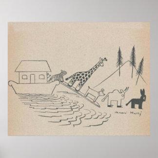 Noahs Arche-Kunst-Druck Poster