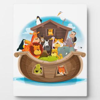 Noahs Arche mit Dschungel-Tieren Fotoplatte