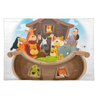 Noahs Arche mit Dschungel-Tieren Tischset