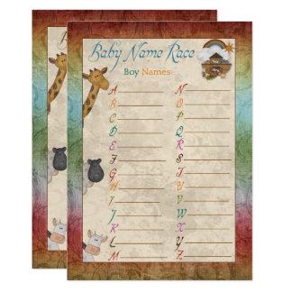 Noahs Arche-Namen-Rennen-Babyparty-Spiel-Karten Karte