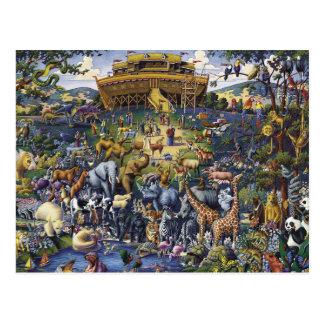 Noahs Arche-Tiere Postkarte